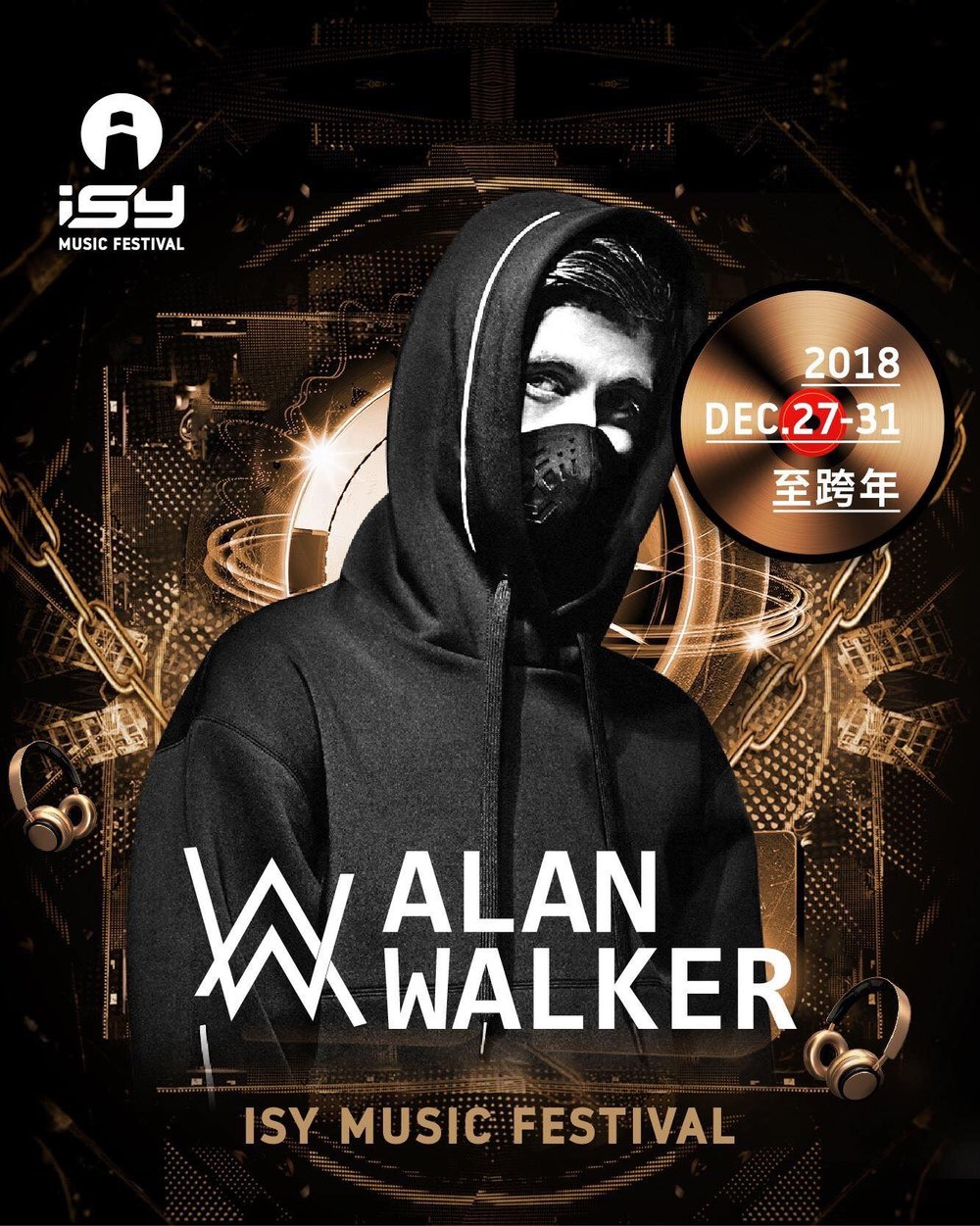 "Alan Walker - is a Norwegian DJ and record producer. He is best known for his 2015 single ""Faded"", which received platinum certifications in over 10 countries. He was ranked 36th on DJ Mag's Top DJs list of 2018"